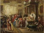 ´La mort de Louis XIV au palais de Versailles´, 1835-40